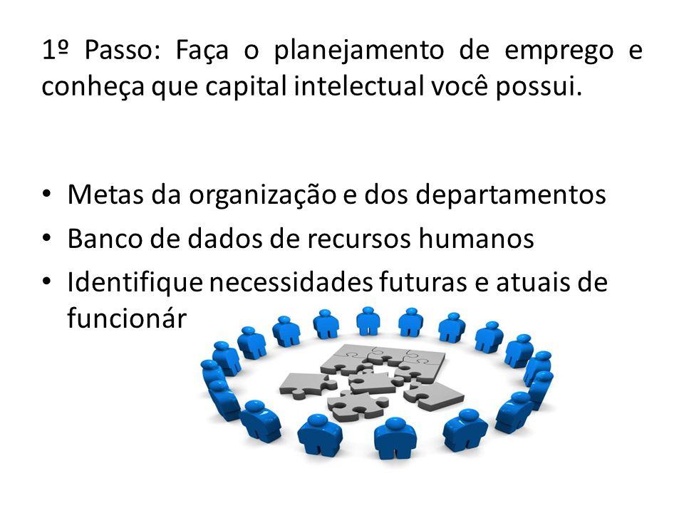 1º Passo: Faça o planejamento de emprego e conheça que capital intelectual você possui.