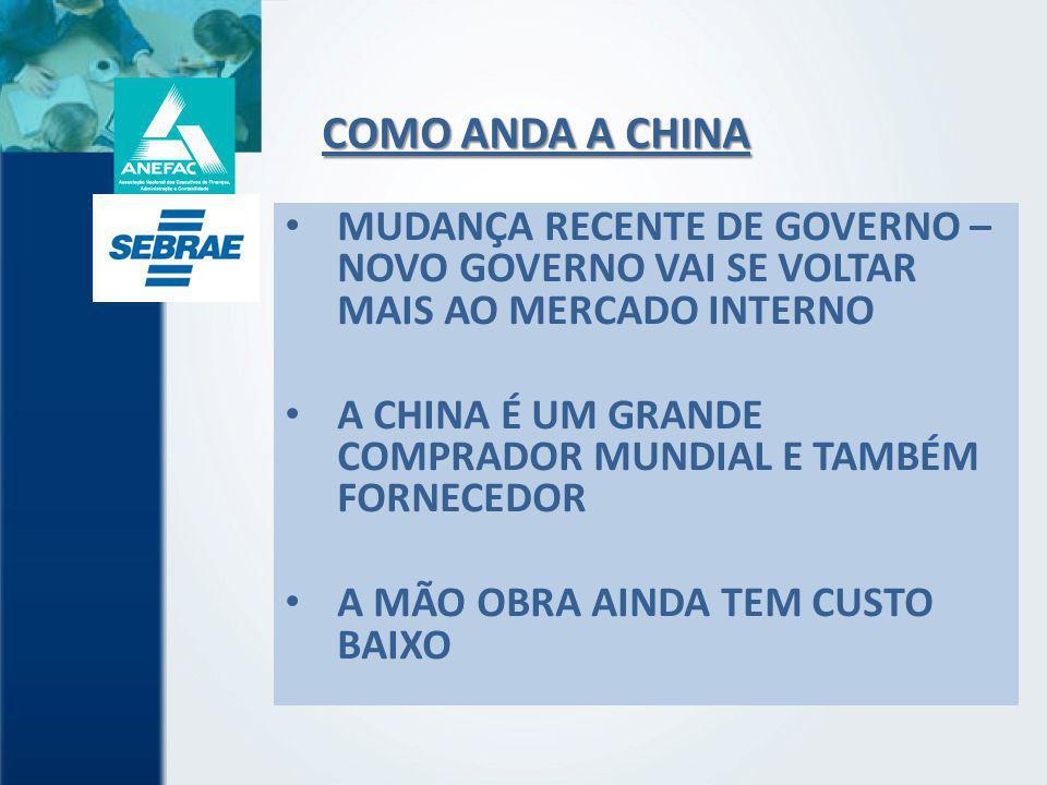 COMO ANDA A CHINA MUDANÇA RECENTE DE GOVERNO – NOVO GOVERNO VAI SE VOLTAR MAIS AO MERCADO INTERNO.
