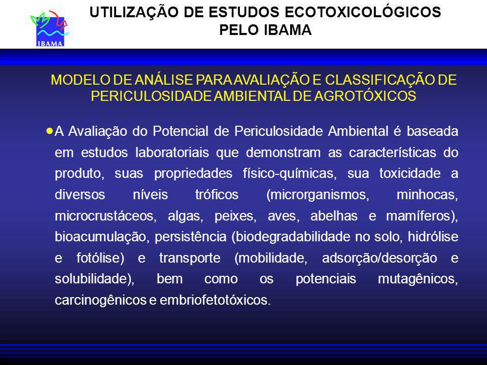 UTILIZAÇÃO DE ESTUDOS ECOTOXICOLÓGICOS PELO IBAMA
