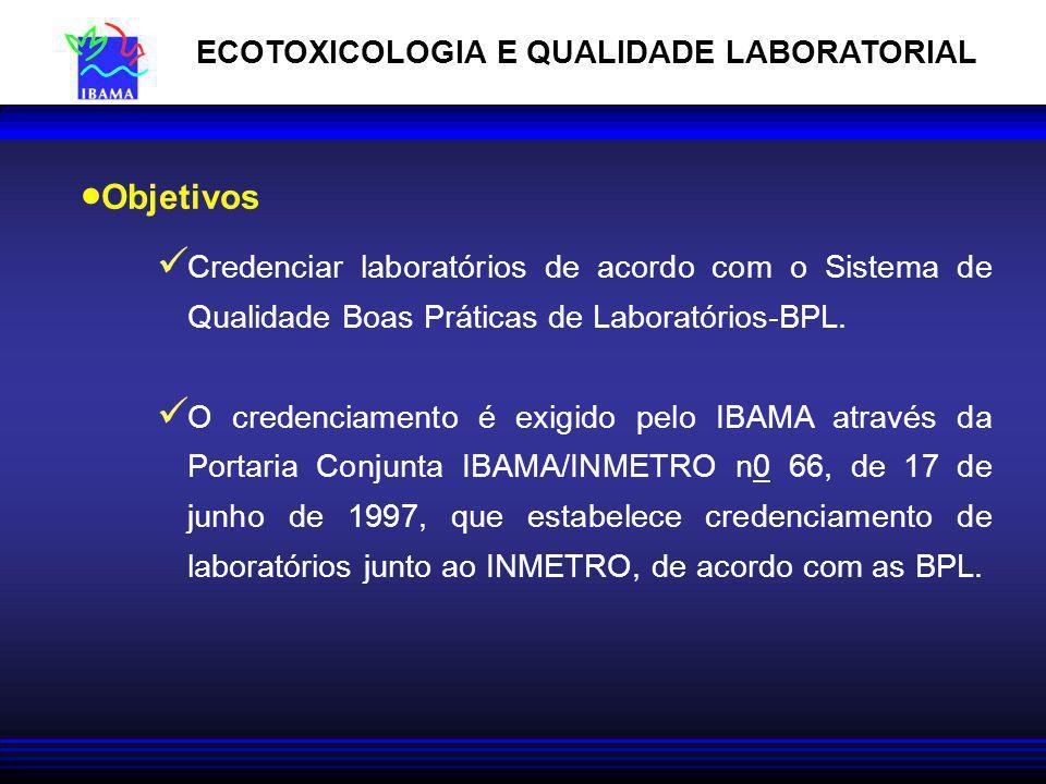 ECOTOXICOLOGIA E QUALIDADE LABORATORIAL