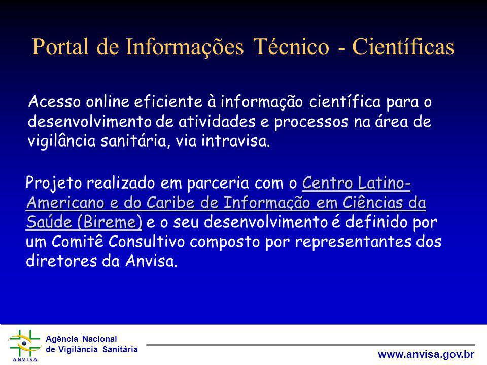 Portal de Informações Técnico - Científicas