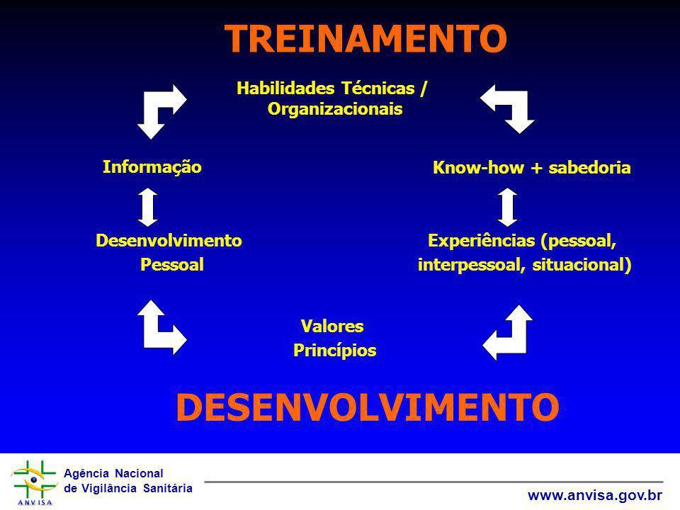 TREINAMENTO DESENVOLVIMENTO Habilidades Técnicas / Organizacionais
