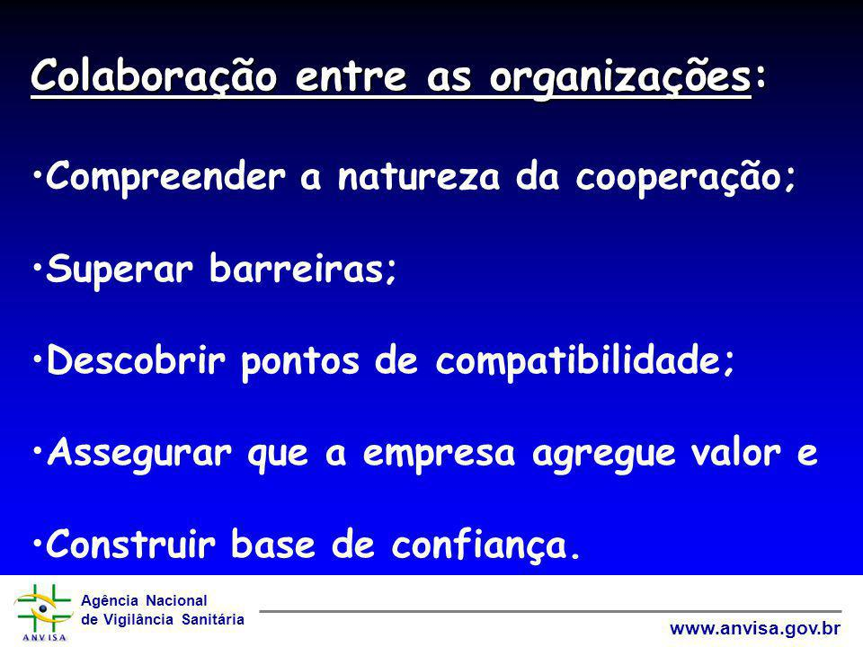 Colaboração entre as organizações: