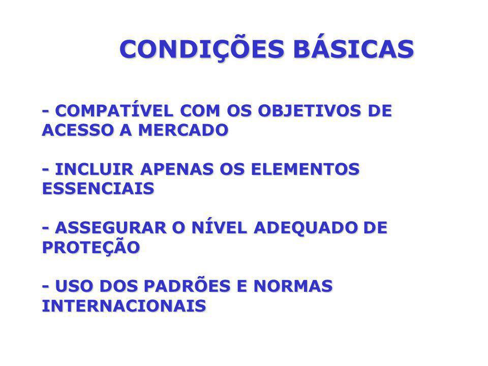 CONDIÇÕES BÁSICAS - COMPATÍVEL COM OS OBJETIVOS DE ACESSO A MERCADO