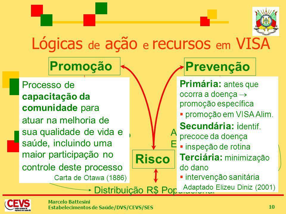 Lógicas de ação e recursos em VISA