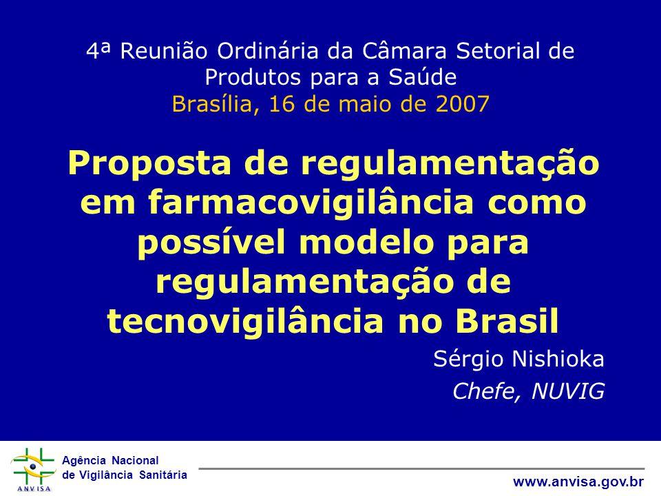 4ª Reunião Ordinária da Câmara Setorial de Produtos para a Saúde Brasília, 16 de maio de 2007
