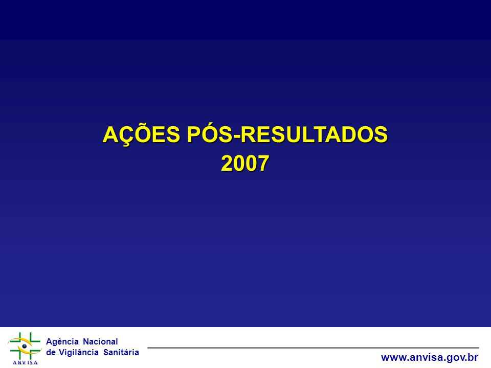 AÇÕES PÓS-RESULTADOS 2007