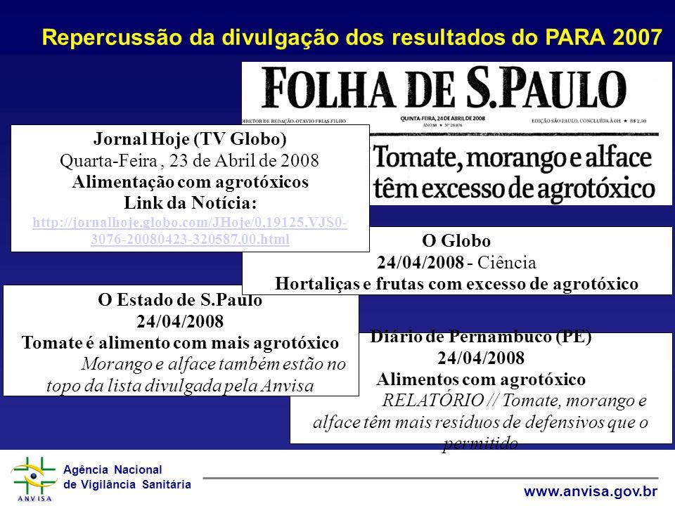 Repercussão da divulgação dos resultados do PARA 2007