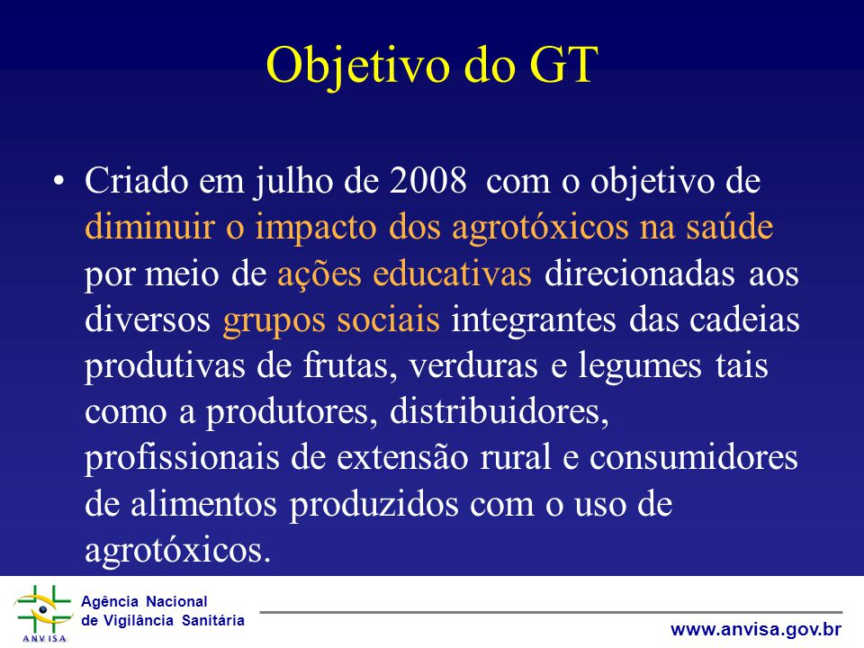 Objetivo do GT