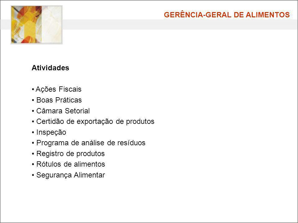GERÊNCIA-GERAL DE ALIMENTOS