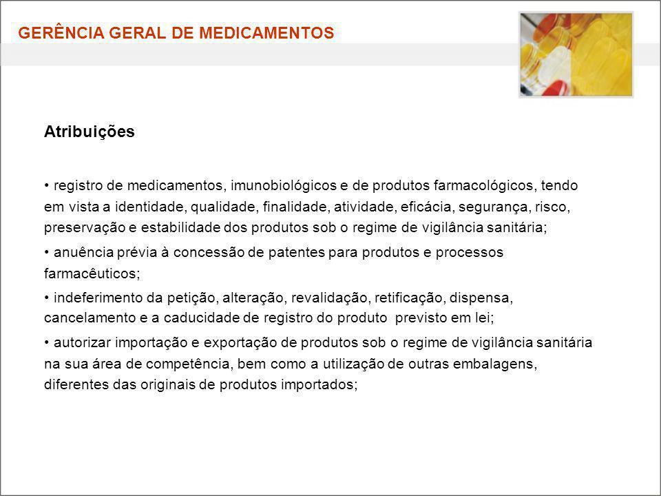 GERÊNCIA GERAL DE MEDICAMENTOS