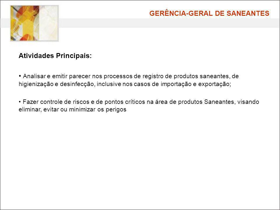 GERÊNCIA-GERAL DE SANEANTES