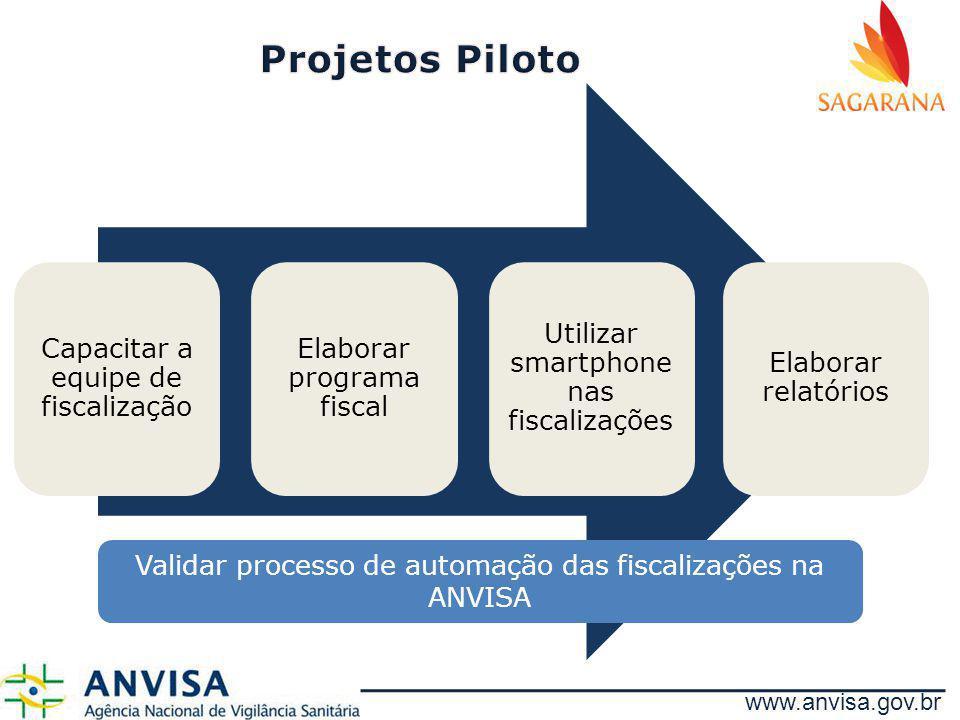 Projetos Piloto Capacitar a equipe de fiscalização