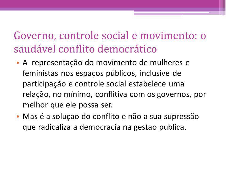 Governo, controle social e movimento: o saudável conflito democrático