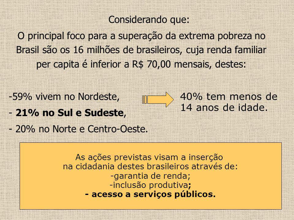 - acesso a serviços públicos.