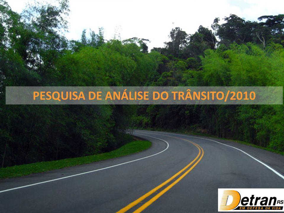 PESQUISA DE ANÁLISE DO TRÂNSITO/2010