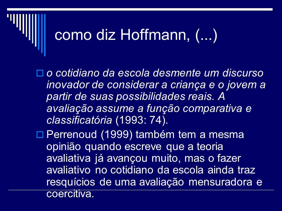 como diz Hoffmann, (...)