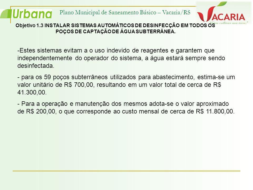 Plano Municipal de Saneamento Básico – Vacaria/RS