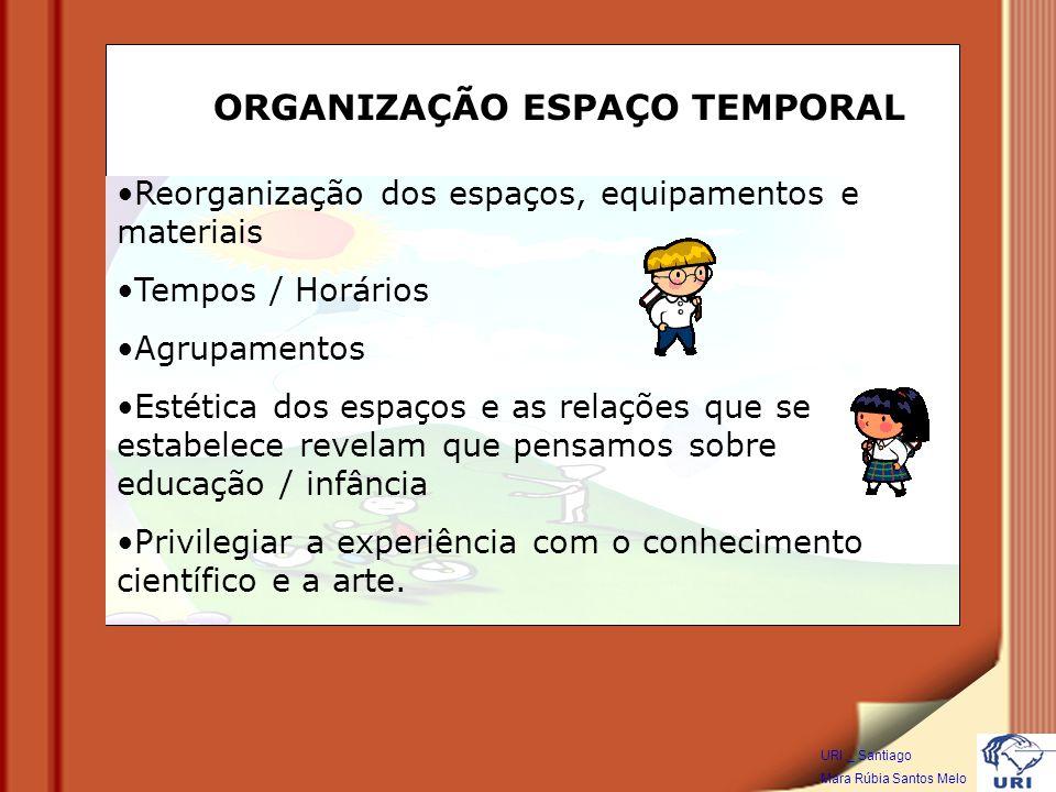 ORGANIZAÇÃO ESPAÇO TEMPORAL
