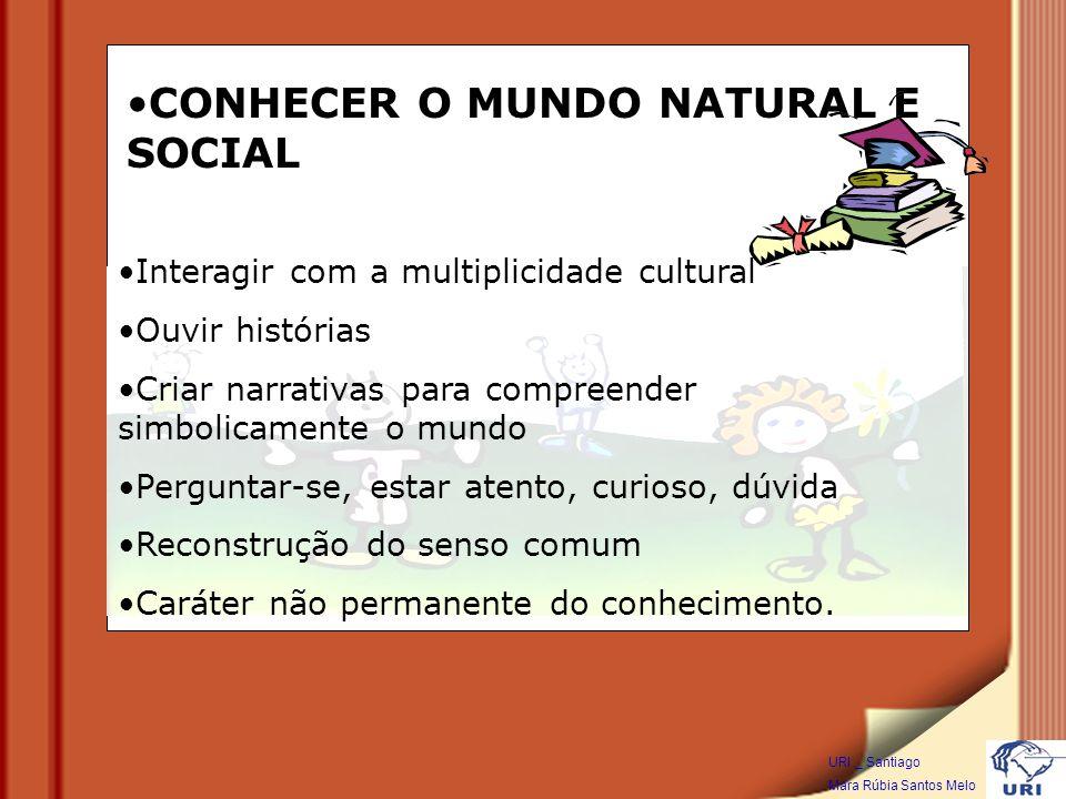 CONHECER O MUNDO NATURAL E SOCIAL