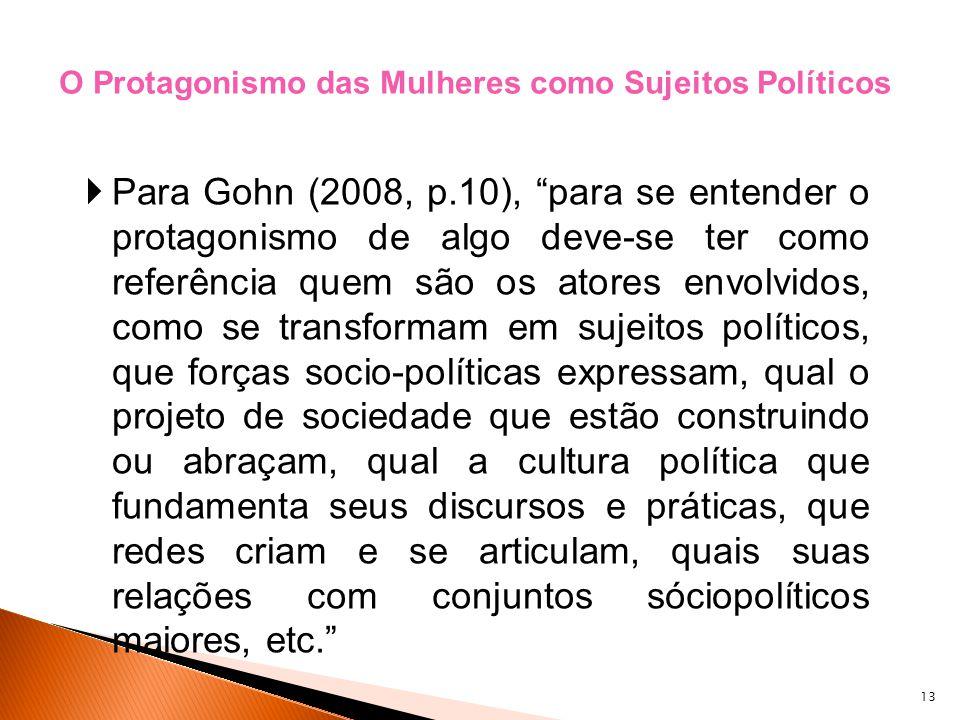 O Protagonismo das Mulheres como Sujeitos Políticos