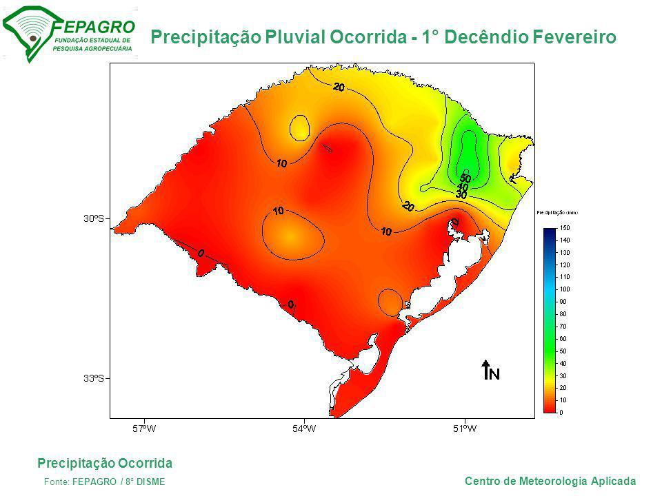 Precipitação Ocorrida Centro de Meteorologia Aplicada
