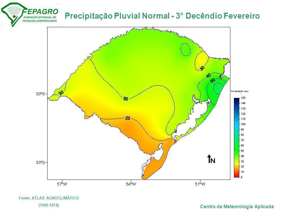 Fonte: ATLAS AGROCLIMÁTICO Centro de Meteorologia Aplicada