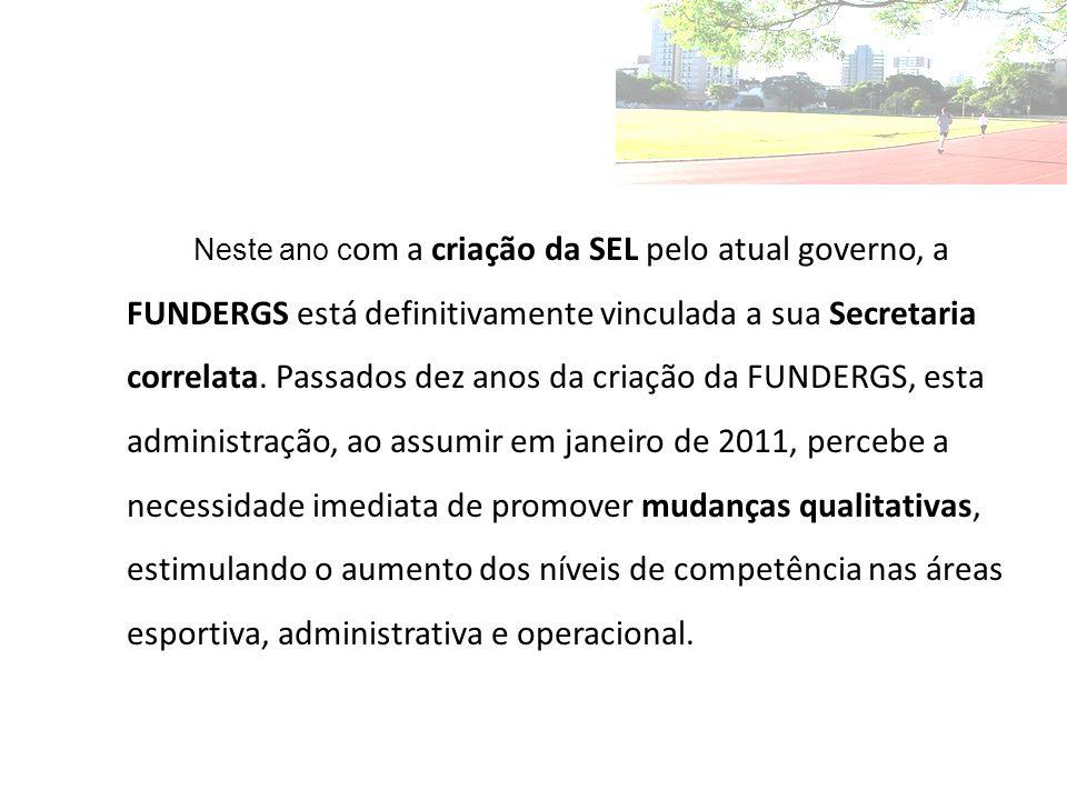 Neste ano com a criação da SEL pelo atual governo, a FUNDERGS está definitivamente vinculada a sua Secretaria correlata.