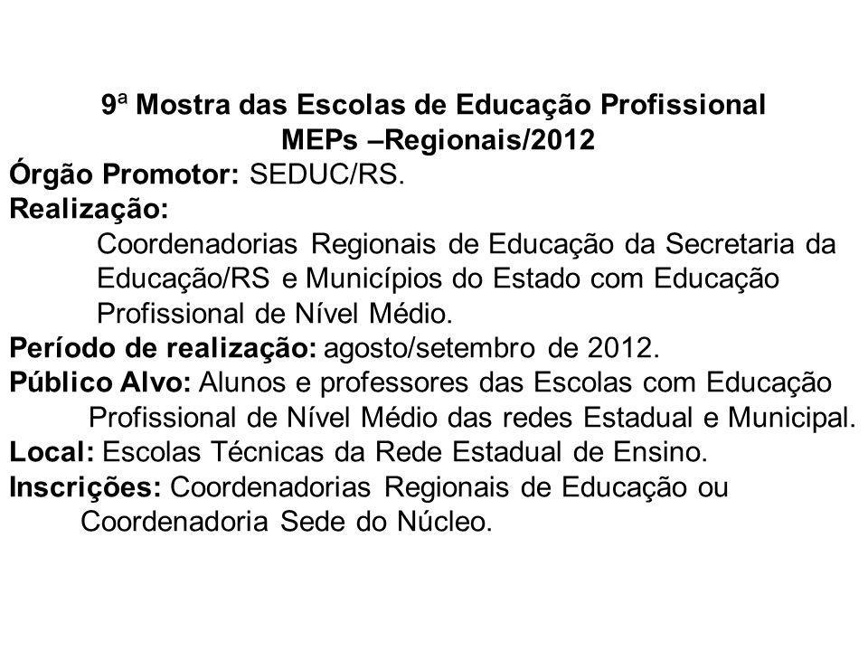 9ª Mostra das Escolas de Educação Profissional