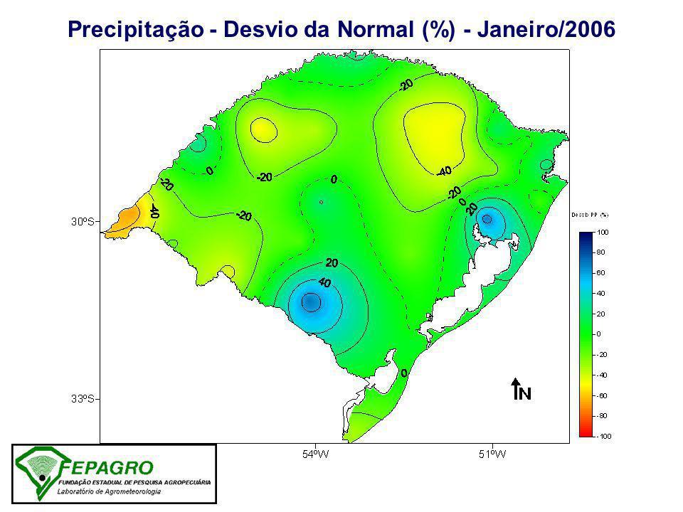 Precipitação - Desvio da Normal (%) - Janeiro/2006