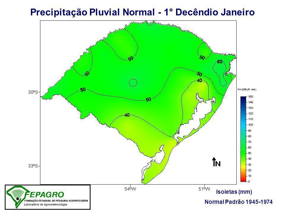Precipitação Pluvial Normal - 1° Decêndio Janeiro