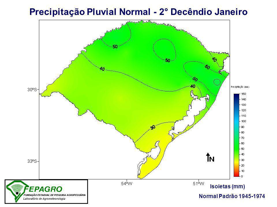 Precipitação Pluvial Normal - 2° Decêndio Janeiro