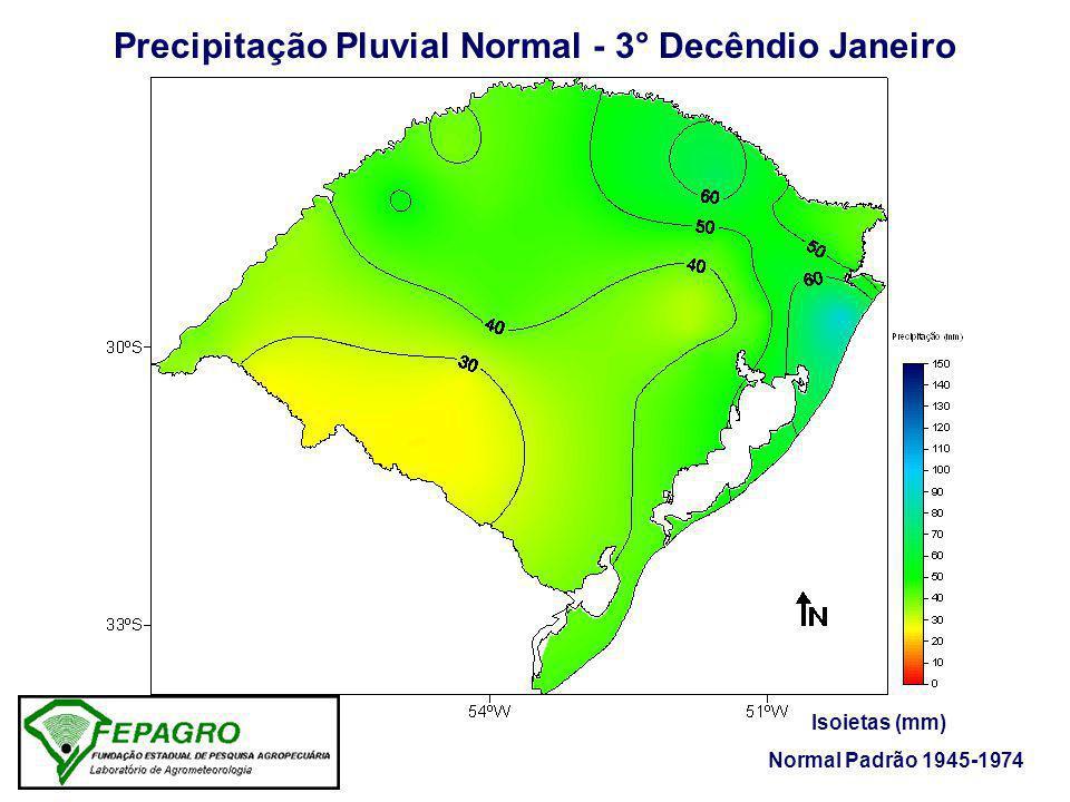 Precipitação Pluvial Normal - 3° Decêndio Janeiro