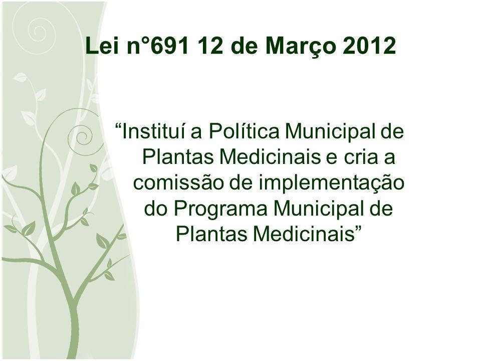 Lei n°691 12 de Março 2012