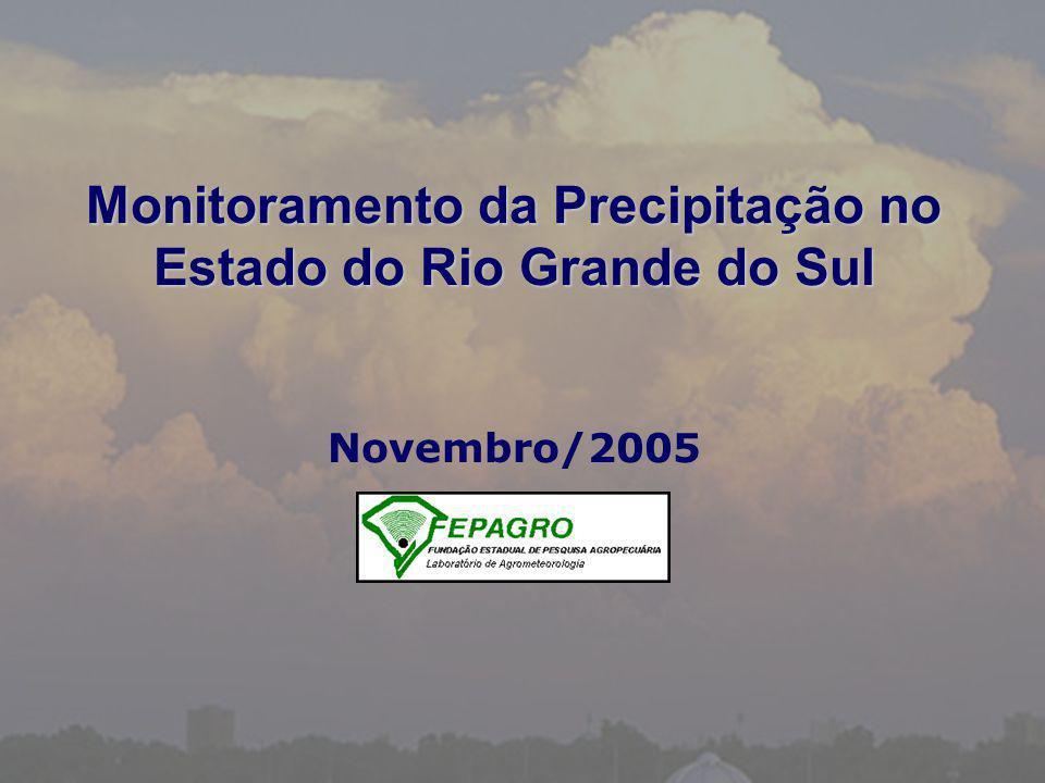 Monitoramento da Precipitação no Estado do Rio Grande do Sul