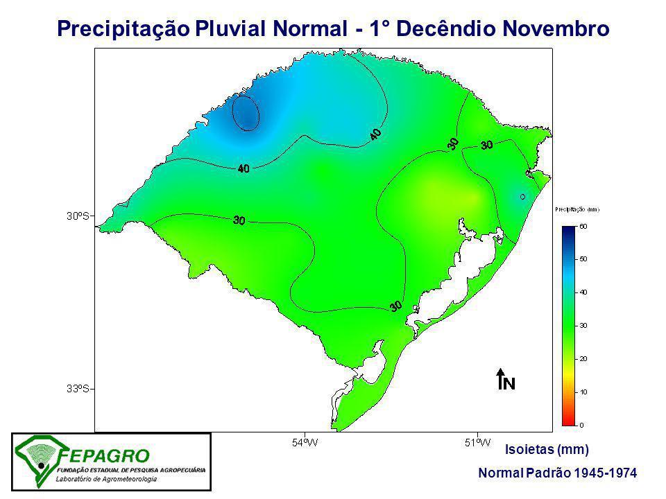 Precipitação Pluvial Normal - 1° Decêndio Novembro
