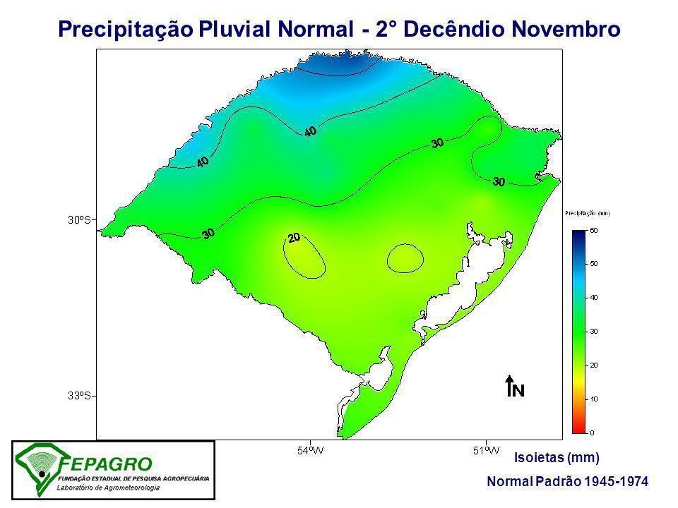 Precipitação Pluvial Normal - 2° Decêndio Novembro