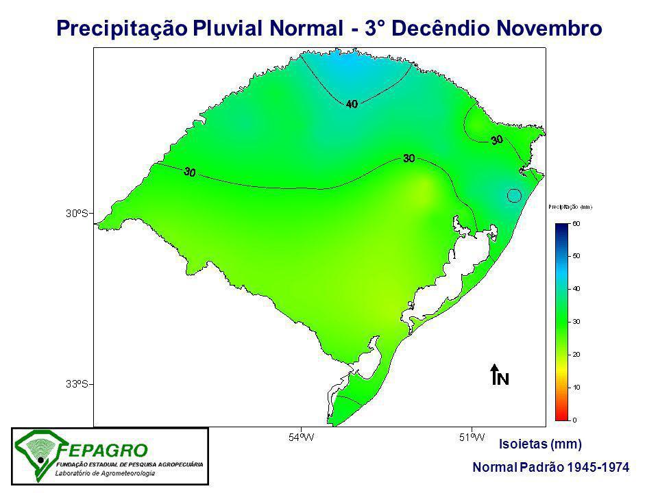 Precipitação Pluvial Normal - 3° Decêndio Novembro