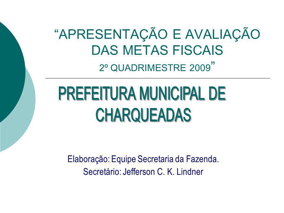 APRESENTAÇÃO E AVALIAÇÃO DAS METAS FISCAIS 2º QUADRIMESTRE 2009