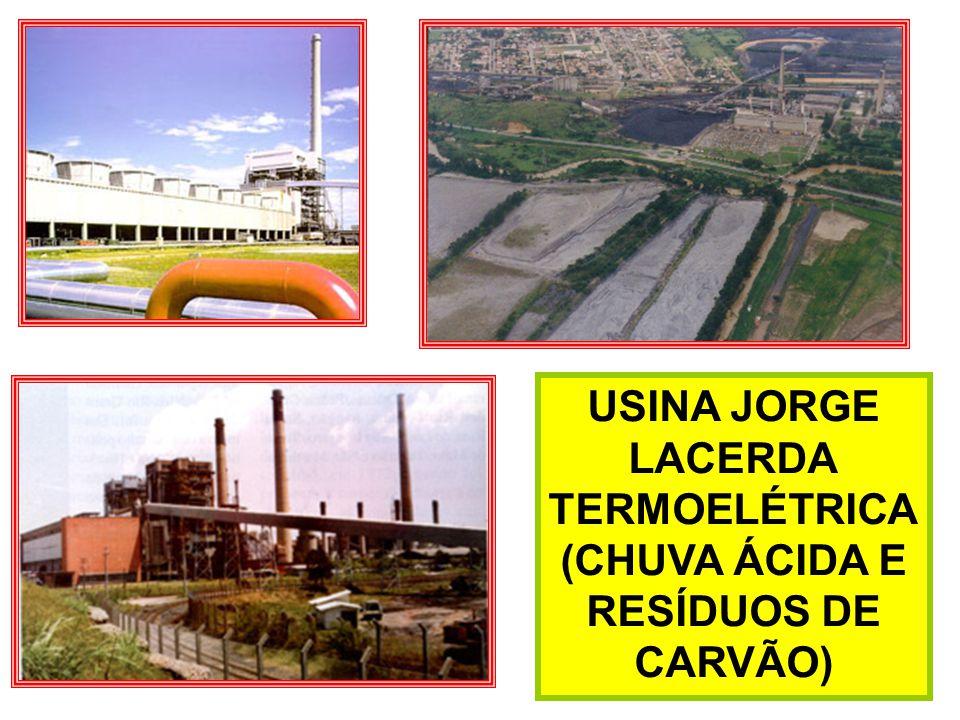 USINA JORGE LACERDA TERMOELÉTRICA (CHUVA ÁCIDA E RESÍDUOS DE CARVÃO)