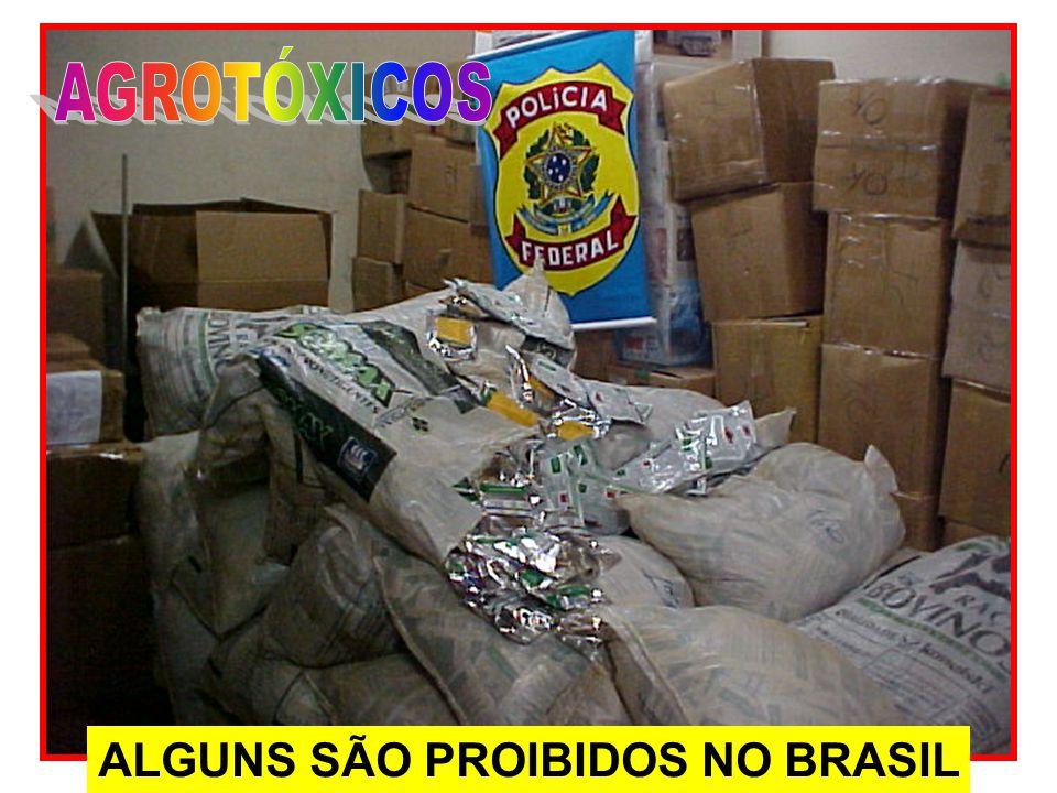 AGROTÓXICOS ALGUNS SÃO PROIBIDOS NO BRASIL