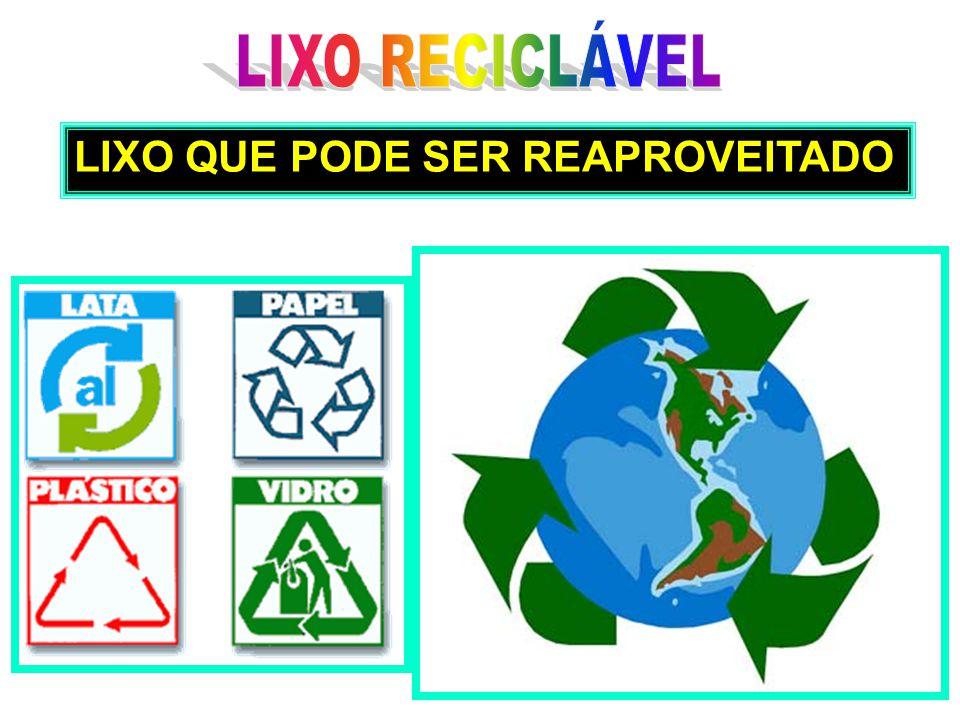 LIXO RECICLÁVEL LIXO QUE PODE SER REAPROVEITADO