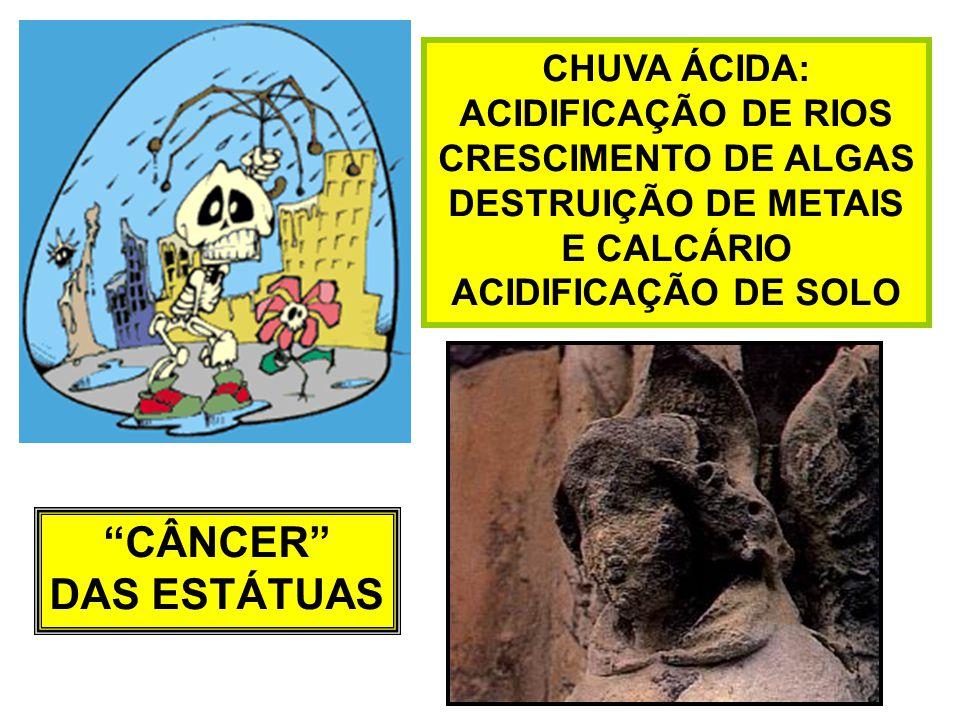 CÂNCER DAS ESTÁTUAS CHUVA ÁCIDA: ACIDIFICAÇÃO DE RIOS