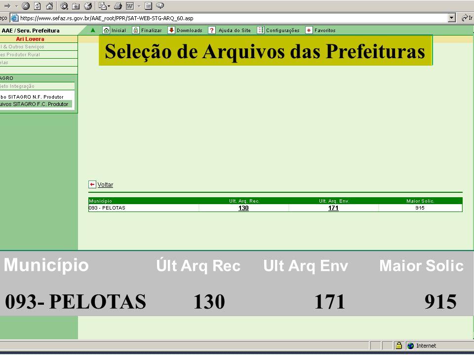 Seleção de Arquivos das Prefeituras 093- PELOTAS 130 171 915
