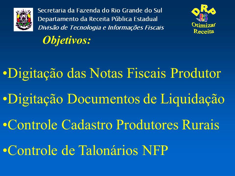 Digitação das Notas Fiscais Produtor