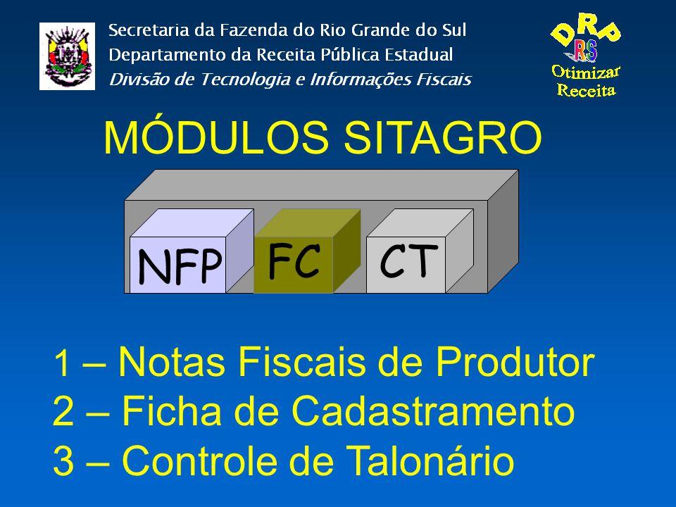 MÓDULOS SITAGRO FC CT NFP 2 – Ficha de Cadastramento