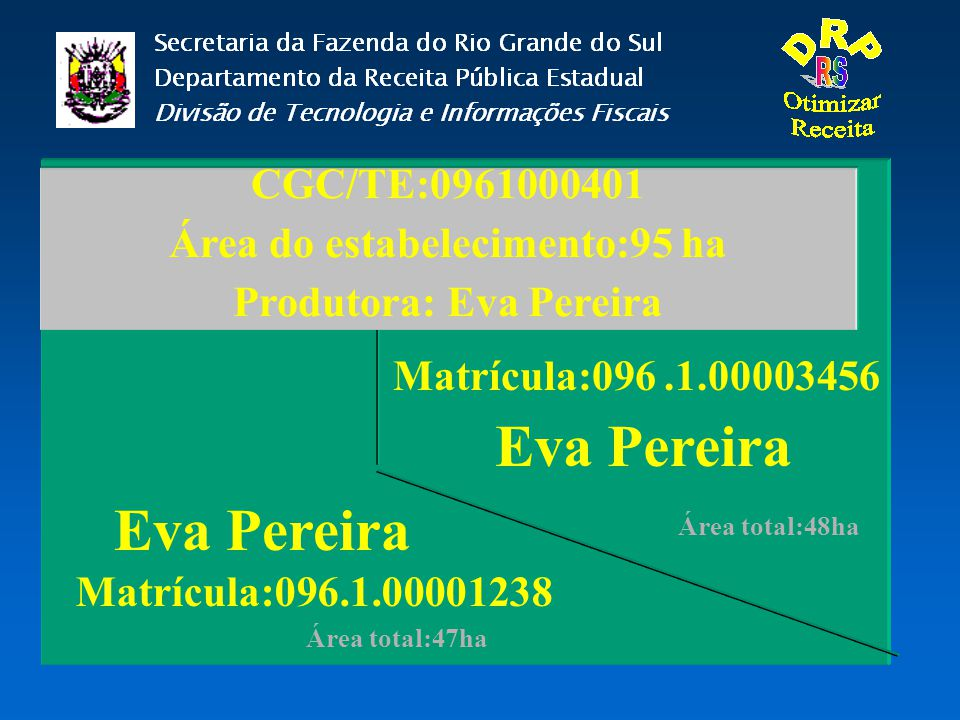 Área do estabelecimento:95 ha Produtora: Eva Pereira