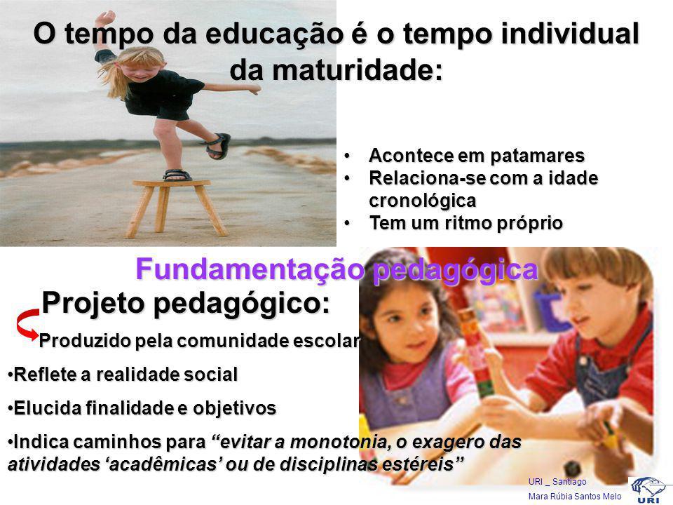 O tempo da educação é o tempo individual da maturidade: