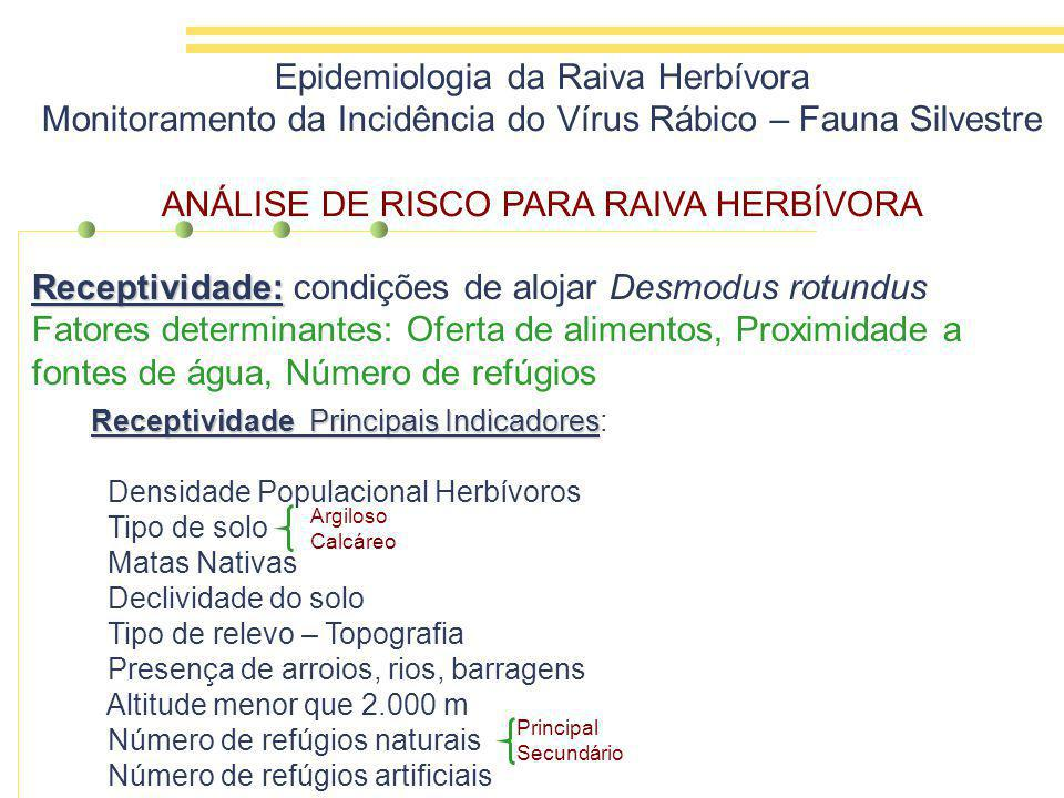 Receptividade: condições de alojar Desmodus rotundus