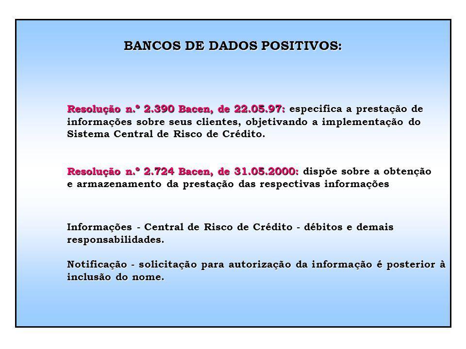 BANCOS DE DADOS POSITIVOS: